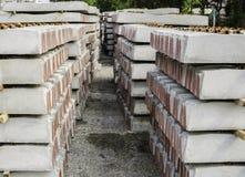 Concrete railways sleepers Royalty Free Stock Image