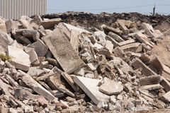 Concrete recycling Stock Photography