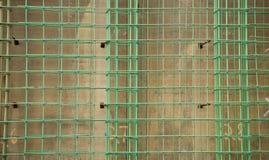 Concrete Reinforcement Grid. A rebar, or concrete reinforcement grid, at a construction site Stock Photo