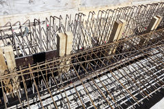 Concrete reinforcement rods Royalty Free Stock Photos