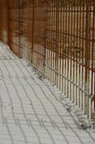 Concrete reinforcements fence Royalty Free Stock Photos