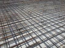 Concrete Reinforcing Bars at a Construction Site Stock Photography