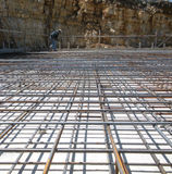 Concrete Reinforcing Mesh at a Construction Site royalty free stock images