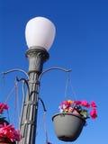 Concrete Retro Lamp Post Stock Photography