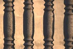 Concrete rhythmed fence royalty free stock photos