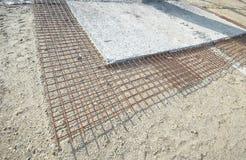 Concrete rinforcement mesh Royalty Free Stock Photo