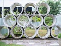 Concrete rioolbuizen royalty-vrije stock foto's