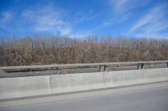Concrete Road barrier Stock Photos