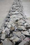 Concrete road broken Royalty Free Stock Photo