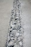 Concrete road broken Royalty Free Stock Photos
