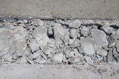 Concrete road broken Royalty Free Stock Image