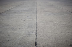 Concrete road. Empty concrete road with dark edges Royalty Free Stock Photography