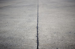 Concrete road. Empty concrete road with dark edges Stock Photo