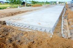 Concrete road. Public concrete road under construction Royalty Free Stock Image