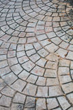 Concrete road in stone curve pattern Stock Photo