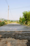 Concrete roads. Making concrete roads in Thailand Royalty Free Stock Images