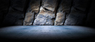 Concrete and rock floor background Royalty Free Stock Photography