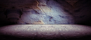 Concrete and rock floor background Royalty Free Stock Image