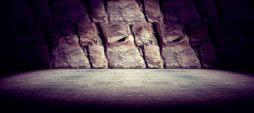 Concrete and rock floor background Royalty Free Stock Photo
