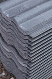 Concrete roof tile (gray color) at construction site Stock Image