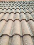 Concrete roof tiles Stock Photo