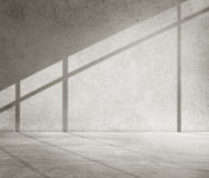 Concrete Room Corner Shadow Cement Wallpaper Concept Royalty Free Stock Photography
