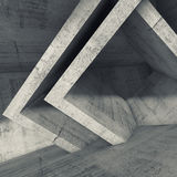Concrete room interior with cubic structures Royalty Free Stock Image