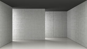 Concrete room Royalty Free Stock Photography