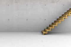 Concrete room with stairs Royalty Free Stock Photo