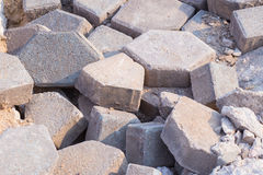 Concrete rubble debris Stock Photography