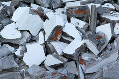 Concrete rubble. Debris on construction site Stock Image