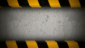 Concrete screen with caution stripes frame Royalty Free Stock Images