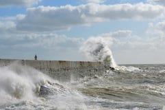 Victorian sea wall defence. Royalty Free Stock Photos