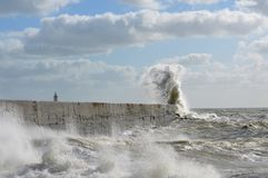 Victorian sea wall defence. Royalty Free Stock Image