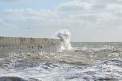 Victorian sea wall defence. Royalty Free Stock Photography