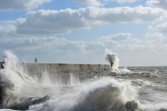 Victorian sea wall defence. Royalty Free Stock Photo