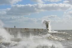 Victorian sea wall defence. Stock Image