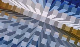 Concrete sea series. Rising blocks Royalty Free Illustration