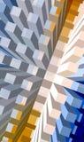 Concrete sea series. Rising building blocks background Stock Illustration