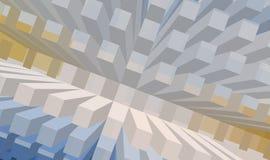 Concrete sea series. Rising blocks Vector Illustration