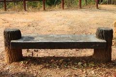 Concrete seat Stock Photo