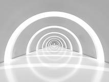 Concrete semicircular hallway Royalty Free Stock Image