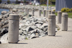 Concrete Sentries Stock Image