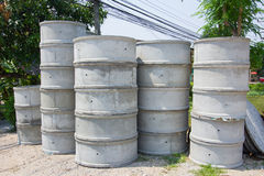 Concrete septic tank for sale in Thailand Stock Photos