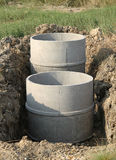 Concrete septic tanks Stock Photos