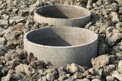 Concrete septic tanks Royalty Free Stock Photos