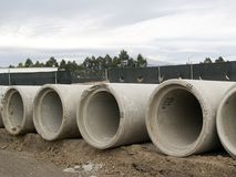 Concrete Sewer Pipes 2. Concrete Sewer Pipes Stock Images