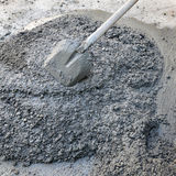 Concrete and shovel Royalty Free Stock Photo
