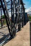 Concrete sidewalk of the bridge Stock Photography