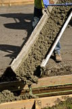 Concrete sidewalk and curb repair Royalty Free Stock Images